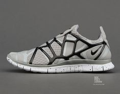 Nike Free Alt Closure Run   Medium Grey   Metallic Silver   Black