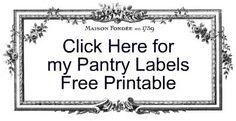 Strangers & Pilgrims on Earth: Pantry Labels
