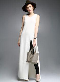 South By South Unique High Split Knit Dress DR0449 – FEW MODA