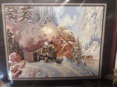 Gunnison Run Train Needlepoint Kit Heritage Collection 06011 Ted Blaylock 1999 #HeritageCollection