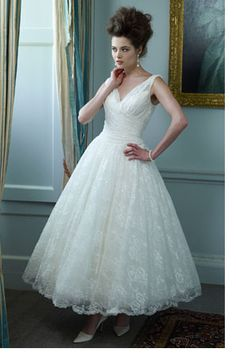 Ian Stuart tea length lace wedding dress, if for some reason I decide I like short dresses