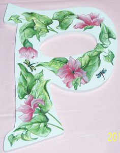 Pink vine wood P initial by MoanasUniqueDesigns on Etsy, $20.00