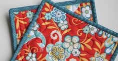 The other day I needed a quick gift for a friend and decided I'd make a couple of hot pads / pot holders for her. These are a quick projec...