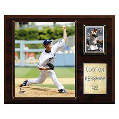 MLB 12 x 15 in. Clayton Kershaw Los Angeles Dodgers Player Plaque - 1215CKERSH