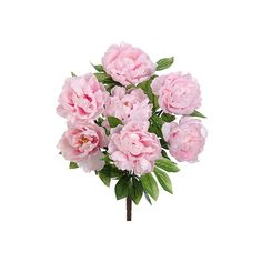 Pink Silk Peony Bush | DIY Silk Flower Arrangement | Afloral ($12) ❤ liked on Polyvore featuring home, home decor, floral decor, silk flower arrangement, pink silk flowers, fake peony arrangement, silk bouquets and pink artificial flowers
