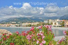 Menton city in Cote d'Azur, France