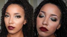GRWM! Warm Autumn/Fall Look | Stiel Serious   Get Ready With Me, Fall Makeup, Autumn Makeup, Berry Makeup, Glitter Makeup, Holiday Makeup