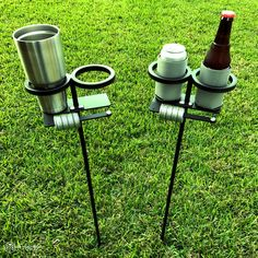 Skolders™ Ground Stakes - Set of 2 | Outdoor Game Score Keeper & Drink Holder by Get Outside Games