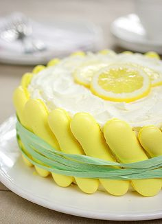 Lemon Charlotte Cake                                                                                                                                                                                 Plus