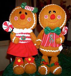 pattern for stuffed gingerbread girl - Yahoo Image Search Results Gingerbread Crafts, Gingerbread Decorations, Christmas Gingerbread, Xmas Decorations, Gingerbread Houses, Christmas Storage, Diy Christmas Ornaments, Christmas Ideas, Outdoor Christmas