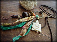 Boho Hippie Necklace  Boho Jewelry  Yoga by HandcraftedYoga, $42.00