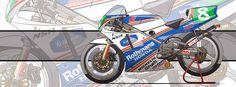 Racing Cafè: Motorcycle Art - Honda NSR 250 GP 1990 by Evan DeCiren