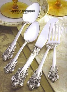 Grande Baroque by Wallace Silversmiths. This is the one that makes me want to cheat on my wedding silver!