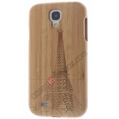Real Natural Eiffel Tower Bamboo Wood Wooden Hard Case Cover For Samsung Galaxy S4 i9500 US$18.98
