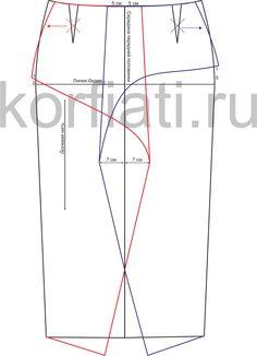 Выкройка юбки без пояса от Анастасии Корфиати