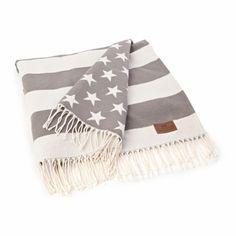 Lexington Company Gray & White Flag Throw  | The Organizing Store #lexingtoncompany