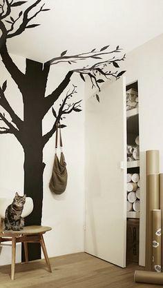 Me encanta este vinilo árbol : Estoy enamorada de este vinilo de KEK Amsterdam aunque soy consciente de que es un amor platónico pues no existe este modelo en su tienda. Tienen muchos di