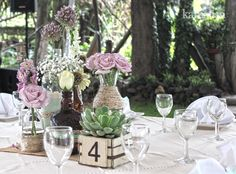 www.kamalion.com.mx - Centros de Mesa / Centerpiece / Vintage / Boda / Wedding / Decor