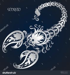 Similar Images, Stock Photos & Vectors of Zodiac sign - Scorpio. Hand drawn doodle scorpion with elements of the ornament in ethnic style, of lace flowers, tendrils and leaves . Scorpio Zodiac Tattoos, Scorpio Art, Scorpio Zodiac Facts, Zodiac Signs Scorpio, Scorpio Woman, Zodiac Art, Astrology Zodiac, Scorpio Quotes, Symbolic Tattoos