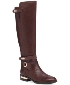 Thalia Sodi Lunna Tall Wide-Calf Wide-Width Boots, ($130) ❤ liked ...