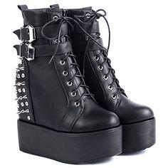 Punk Women's Short Boots With Rivet and Platform Design