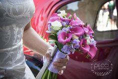 Wedding bouquet Pecci arte floral Floristeria en Toledo.  Ramo de novia de calas color rosa