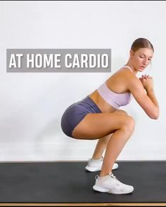 Cardio Workout At Home, Gym Workout Videos, Gym Workout For Beginners, At Home Workouts, Cardio Yoga, Cardio Abs, Fitness Workouts, Fitness Workout For Women, Sport Fitness
