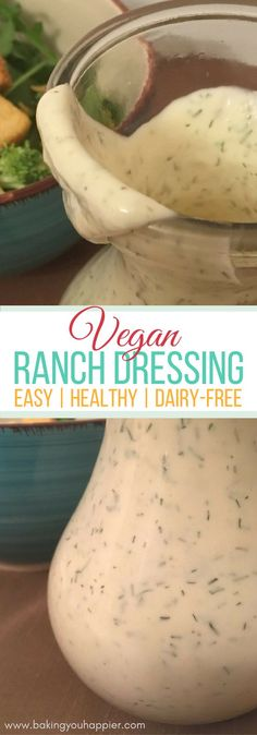 Easy Vegan Ranch Dressing Recipe, in just a quick 5-minutes you'll be eating this delicious tasting kid-approved Vegan Ranch Dressing!