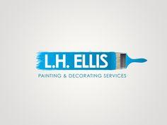 L.H. Ellis Painting & Decorating Services   Branding & Logo Design