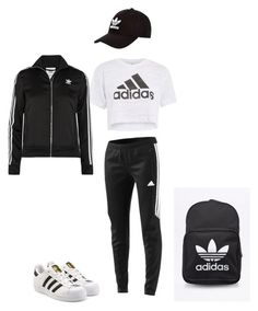 """Untitled #7"" by nakiya2806 ❤ liked on Polyvore featuring adidas and adidas Originals"
