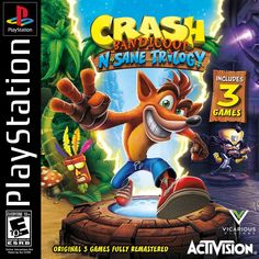 Re-created the Activision Crash Bandicoot: N. Sane Trilogy PSOne artwork given out only to employees. - Album on Imgur