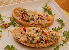 Crab and chilli crostoni recipe | Lunch ideas | Lemon Squeezy