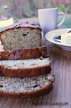 Sour Cream Banana Bread Recipe - tried it - awesome!!!! Split into two loaves and baked 33 mins.