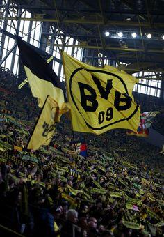 Fans of Dortmund are seen during the Bundesliga match between Borussia Dortmund and Bayer 04 Leverkusen at Signal Iduna Park on March 4, 2017 in Dortmund, Germany.