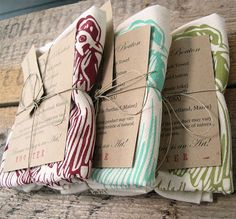 Screen-printed Tea Towels — Fixed price $14
