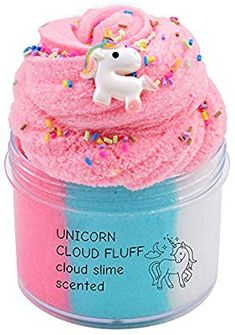 Amazon.com: EASYCITY Fairy Putty Fluffy Unicorn Cloud Slime, Fluffy Floam Slime Stress Relief Toy Scented Sludge Toy for Kids and Adults 200ML (8oz): Toys & Games