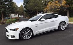 """""""Sir,  Your court is ready.""""-2015 Mustang GT in Wimbledon White"""