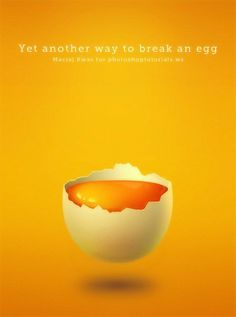 Learn how to draw this beautiful drawing of a yolk in an egg shell. This extremely detailed tutorial will show you how to create a realistic broken egg shell and add reflections and shadows to create Photoshop Photography, Photography Branding, Broken Egg, Photoshop Elements, Adobe Photoshop, Chicken Art, Egg Dish, Beautiful Drawings, Eggs