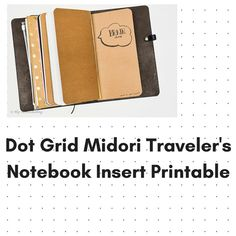 Dot Grid Midori/Fauxdori Travelers Notebook by HipHomeschooling