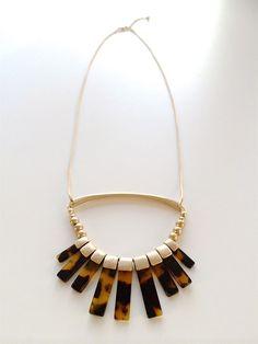 Long Gold / Tortoise Tassel Necklace! {Jane Deals}