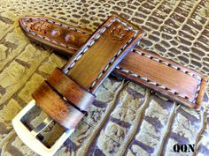 22 mm Leather Watch Strap, Vintage looking watch band, Vintage Brown strap, Custom watch strap-SR