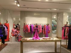 Pucci display in the designer gallery.