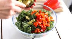 Kale, Guacamole, Food And Drink, Healthy Recipes, Cooking, Ethnic Recipes, Syrup, Collard Greens, Kitchen
