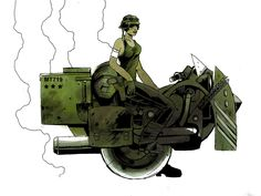 "From ""The Weekly Themed Art Blog"": Untitled dieselpunk art by Chris Askham."