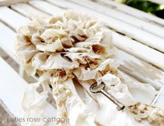 Tattered Layered Rose Tutorial by Katies Rose Cottage