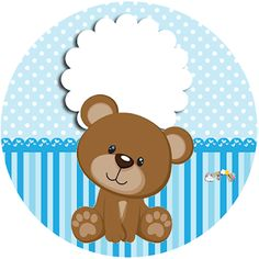Imprimibles Baby Shower, Baby Shower Invitaciones, Baby Cartoon Drawing, Lol Doll Cake, Tedy Bear, Teddy Pictures, Free Printable Birthday Invitations, Baby Boy First Birthday, Bear Theme