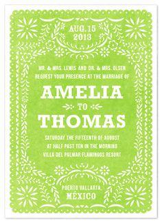 Fiesta wedding invitation.... Cinco de mayo theme, so cute!!!