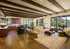 Tuscan Villa Custom Home Kitchen by Allen Associates, near Santa Barbara, California.