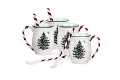 Spode tree cane mugs, set of 4. Available at Bowring. #findwhatyoulove