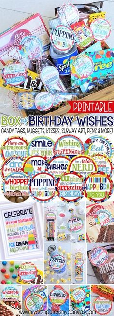 Box of Birthday Wishes {Gift Tag Kit} PRINTABLE